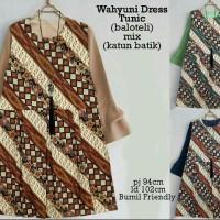 65148 wahyuni dress tunic/baju batik murah/atasan muslim wanita murah