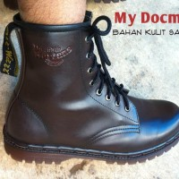 Jual Sepatu Docmart 8 hold Hitam dan coklat Murah