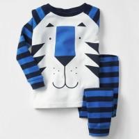 Baju Tidur Anak Laki-Laki/Piyama GAP Hongkong Lion Stripes Blue