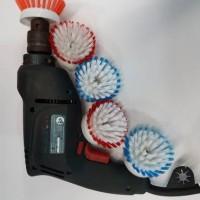 Sikat Nylon Rotary Brush (dipasang pada bor)