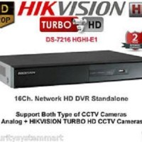 DVR HIKVISION 7216 E1 BUKAN OEM TURBO HD DVR 16 CHANNEL 720P
