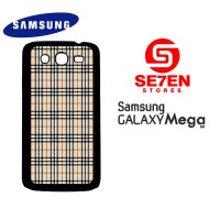 Casing HP Samsung Mega 5,8 Burberry pattern 2 Custom Hardcase