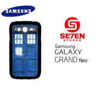 Casing HP Samsung Grand Neo Blue Police Call Box TARDIS Custom Hardcas