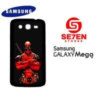 Casing HP Samsung Mega 5,8 deadpool comics red Custom soft
