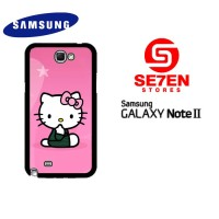 Casing HP Samsung Galaxy Note 2 Cute Hello Kitty Custom Hardcase