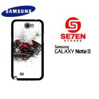 Casing HP Samsung Galaxy Note 2 Batman V Superman logo Custom Hardcase