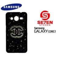 Casing HP Samsung Galaxy Core 2 chanel logo Custom Hardcase Cover