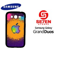 Casing HP Samsung Grand Duos colorful apple logo Custom Hardcase Cover