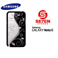 Casing HP Samsung Galaxy Note 2 Black design Custom Hardcase