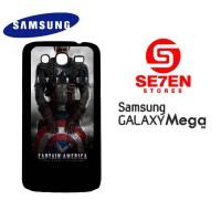 Casing HP Samsung Mega 5,8 Captain America Logo 2 Custom Hardcase