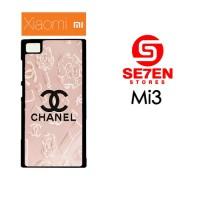 Casing HP Xiaomi Mi3 Chanel logo Pink Custom Hardcase
