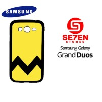 Casing HP Samsung Grand Duos Charlie Brown Yellow Chevron Custom Hardc