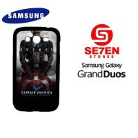 Casing HP Samsung Grand Duos Captain America Logo 2 Custom Hardcase Co