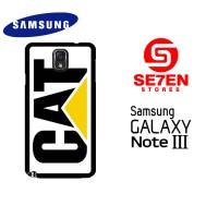 Casing HP Samsung Galaxy Note 3 caterpillar logo Custom Hardcase