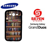 Casing HP Samsung Grand Duos book library Custom Hardcase Cover
