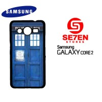 Casing HP Samsung Galaxy Core 2 Blue Police Call Box TARDIS Custom Har
