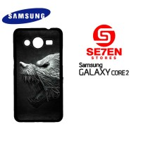 Casing HP Samsung Galaxy Core 2 black wolf Custom Hardcase Cover