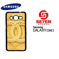 Casing HP Samsung Galaxy Core 2 chanel goldi Custom Hardcase Cover