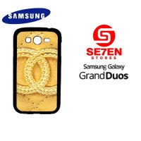 Casing HP Samsung Grand Duos chanel goldi Custom Hardcase Cover
