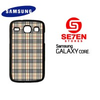 Casing HP Samsung Galaxy Core 1 Burberry pattern 2 Custom Hardcase Cov