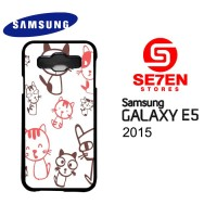 Casing HP Samsung E5 2015 Cartoon background Custom Hardcase Cover