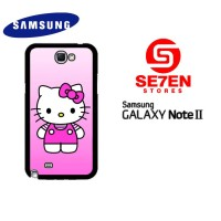 Casing HP Samsung Galaxy Note 2 Cute Hello Kitty 2 Custom Hardcase