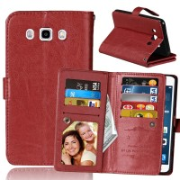 9 slot card wallet SAMSUNG GALAXY GRAND DUOS flip cover case leather