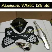 Jual Paket aksesoris vario 125 pgmfi OLD visor karpet knalpot air filter SP Murah