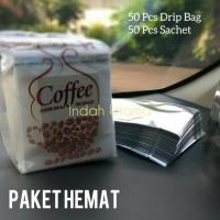 Jual Paket Drip Bag Coffee Filter + Sachet 50+50 Murah