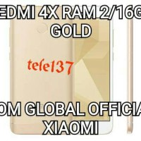 Jual XIAOMI REDMI 4X GOLD RAM 2 INTERNAL 16GB ROM GLOBAL OFFICIAL Murah