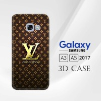Casing 3D Full Print Samsung Galaxy A3 & A5 2017 Louis Vuitton Gold X4