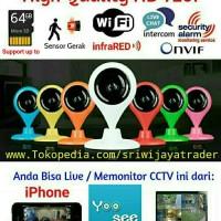 Spycam Wifi / IP Camera Mini, CCTV Wireless MicroSD HD720p
