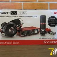 harga Focusrite Scarlett 2i2 Studio Bundle Paket Home Recording Tokopedia.com