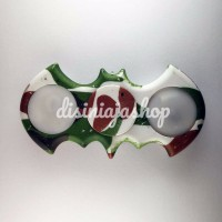 NEW Fidget Spinner Batman motif ARMY dengan lampu / hand spinner LED