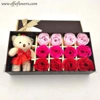 Bunga Mawar Fragrance Flower Rose/Bunga Sabun+Boneka Gift Kado Ultah