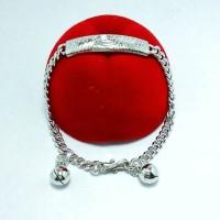 Gelang Tangan Bayi Perak Silver 925 Lapis Emas Putih/gelang Anak