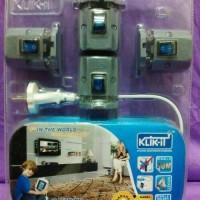 Jual Stop kontak 4 lubang/soket + Switch on off + kabel 10 meter Klik it Murah