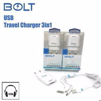 BOLT ORIGINAL CARJER HP MICRO IPHONE 4 5 6 IPAD CHARGER CASAN MURAH