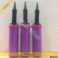 Pompa balon tangan manual balon foil pompa murah ungu purpe