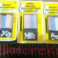 lilin ultah ,magic relighting candles ,lilin magic