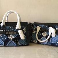 Coach Swagger Canyon Quilt Denim Patchwork 27 38075