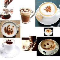 Jual KC027 12 Patern Coffee Mold Cetakan Kopi/Susu Barista Latte Cappucino Murah