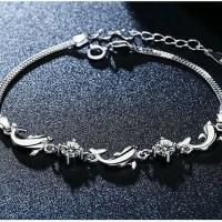 Gelang/bracelet Silver Dolphin Import Taobao Fashion Korea