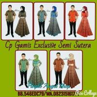 Couple Gamis Hijab Muslimah EXCLUSIVE Batik SEMI SUTERA AMIRAH