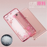 Silicon Case Oppo A57 A 57/Vivo V5 Plus + Casing Flower Bling Diamond