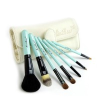 7 Set Hair Makeup Brush Set Animal Model / Kuas Wajah - Putih Biru