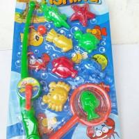 Mainan Edukasi Fishing Game Pancing Ikan Magnet 8Pcs Fun Fishing