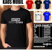KAOS OTOMOTIF MOBIL Datsun GO-CROSS Font/Baju Mobil Tshirt Balap
