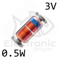 Zener 3V 0.5 W 1/2W LL34 SMD ZMM 0.5W DIODE DIODA 1N5987B 5987