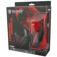 Sades Chopper SA711 warna MERAH Headset Gaming Original + Garansi